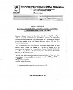 2015Nigeria elections Timetable